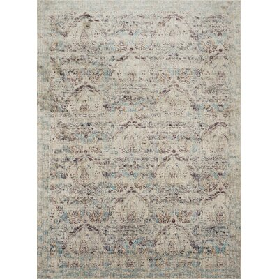 Emile Silver/Plum Area Rug Rug Size: Rectangle 37 x 57