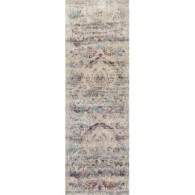 Emile Silver/Plum Area Rug Rug Size: Runner 27 x 8