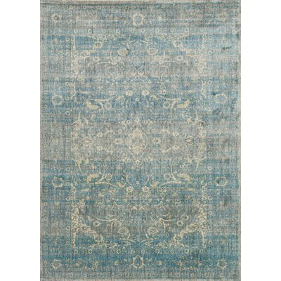 Jonas Teal Blue/Mustard Beige Area Rug Rug Size: Rectangle 37 x 57