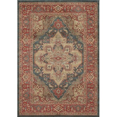 Othello Red Area Rug Rug Size: Rectangle 2 x 3