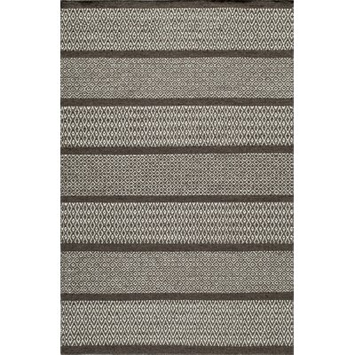 Willard Hand-Woven Chocolate Area Rug Rug Size: 3'6