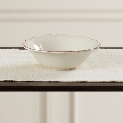 Celeste 16 oz. Salad Bowl (Set of 6) Color: Cream