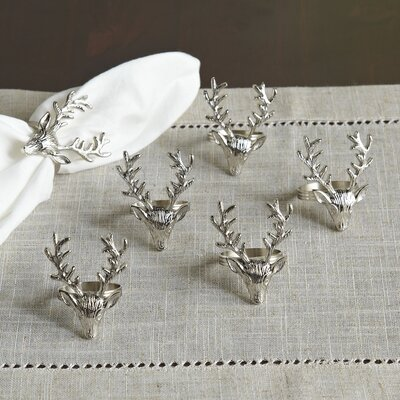 Stag Napkin Rings (Set of 6)