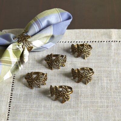 Oak Leaf Napkin Rings (Set of 6)
