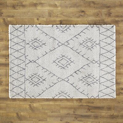 Wylie Gray/Cream Area Rug Size: 2' x 3'7