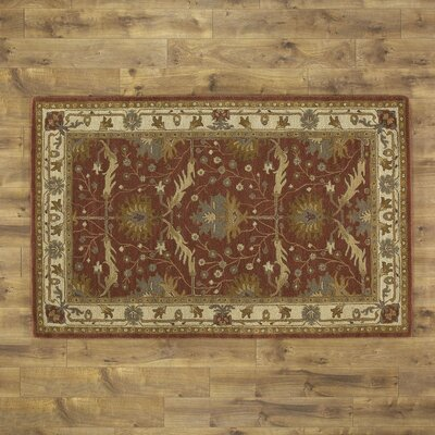 McGuire Hand-Tufted Brick Area Rug