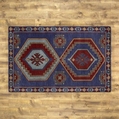 Cohen Blue & Red Rug Size: 8 x 10