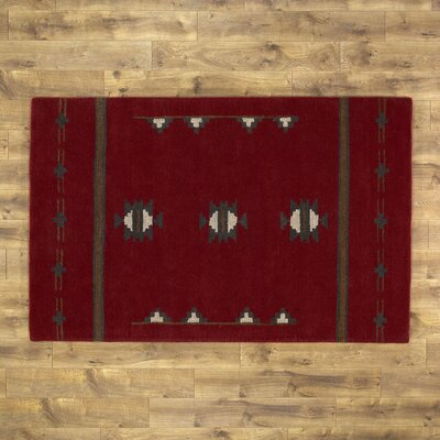 Zachary Red Rug Size: 8' x 10'