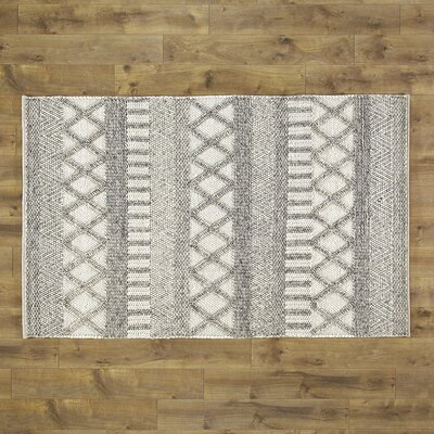 Tobias Hand Woven Wool and Cotton Papyrus Area Rug Size: Rectangle 5 x 8
