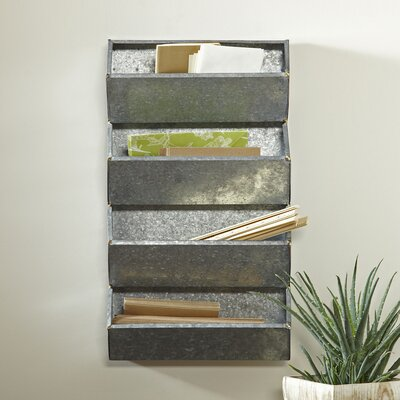 Galvanized Tin Wall Organizer