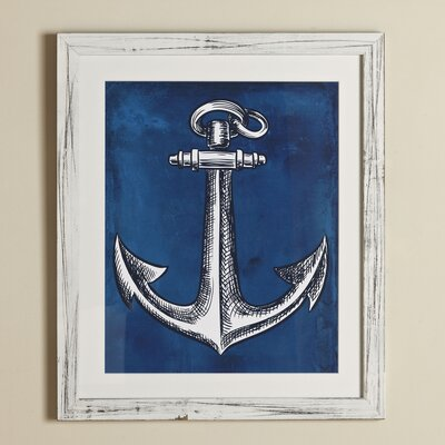 Anchor Yacht Club Framed Print
