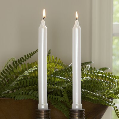 White Tapered Candlesticks