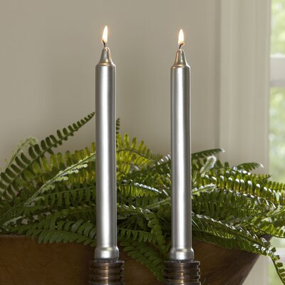 Silver Tapered Candlesticks