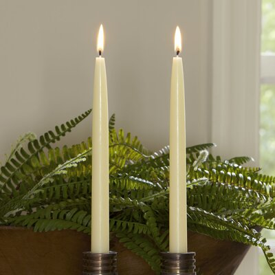 12 Piece Ivory Tapered Candlestick Set