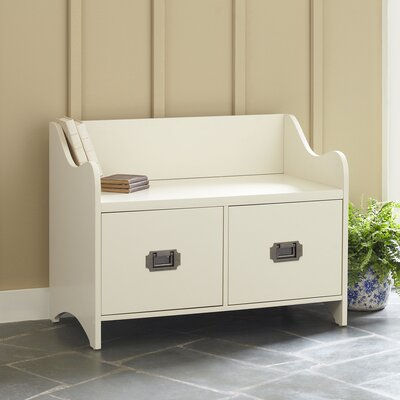 Edwards 2-Drawer Storage Bench Finish: White