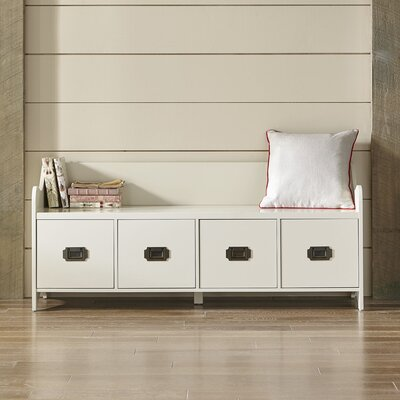 Edwards 4-Drawer Storage Bench Finish: White