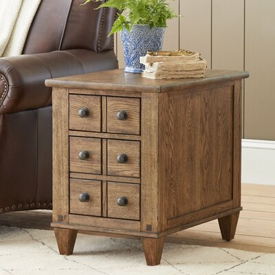 Derrickson Chairside Table with Drawers