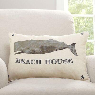 Beach House Cotton and Linen Lumbar Pillow
