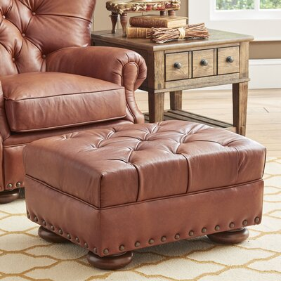 Miller Leather Ottoman Upholstery: Steamboat Chestnut