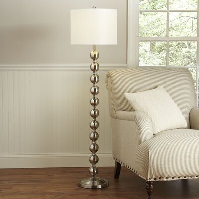 Westerville 58.5 Floor Lamp Finish: Nickel