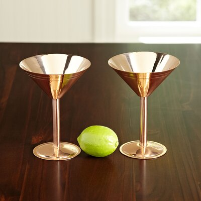 Copper 9 oz. Martini Glasses