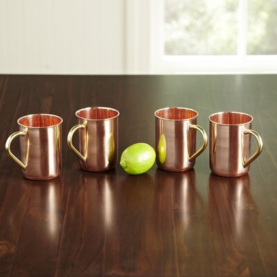 Polished Copper 14 oz. Moscow Mule Mugs