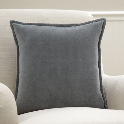 Samara Velvet Pillow Cover Size: 22 H x 22 W x 1 D, Color: Gray