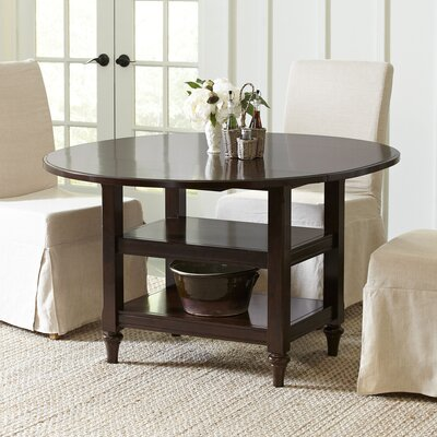 Burke Drop-Leaf Dining Table Finish: Espresso