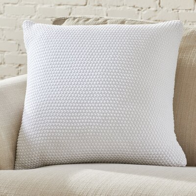 Hammond Knit Pillow Cover Color: White