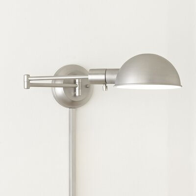 Amity Swing-Arm Wall Sconce Base Finish: Antique Nickel