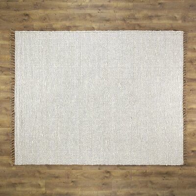 Brogan Hand-Woven Ivory Area Rug Rug Size: Rectangle 53 x 76
