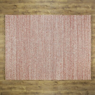 Brogan Hand-Woven Red Area Rug Rug Size: 53 x 76