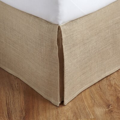 Herrington Burlap Bed Skirt Size: King