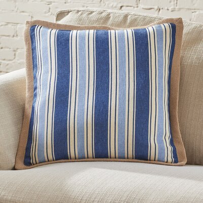 Clarion Jute Trim Pillow Cover