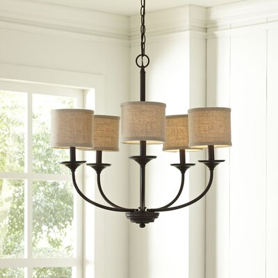 Kipling 5-Light Shaded Chandelier