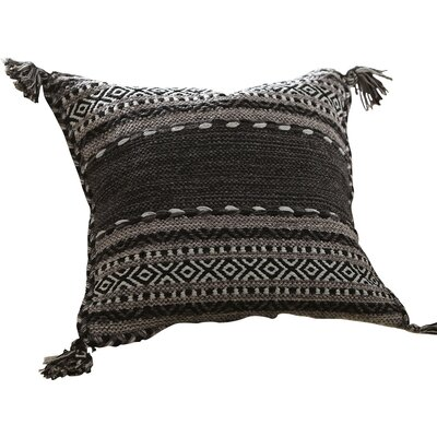 Fogarty Pillow Cover Size: 18, Color: Black