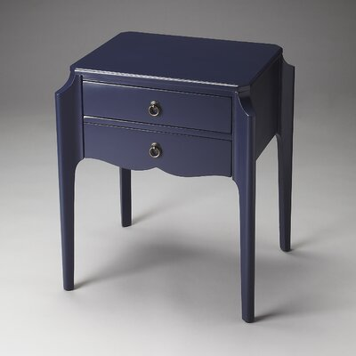 Blythe Side Table Finish: Blue