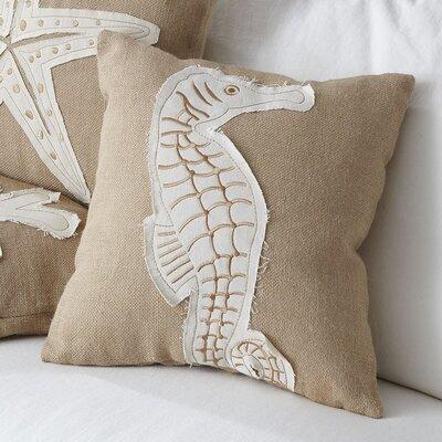 Seahorse Jute Pillow Cover
