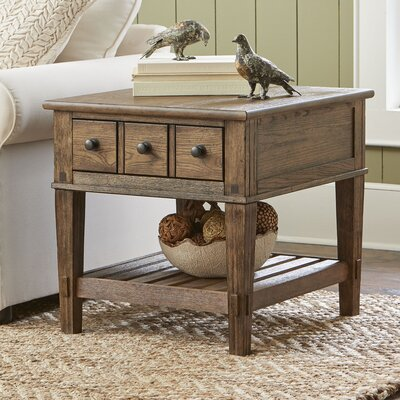 Derrickson Side Table with Drawers