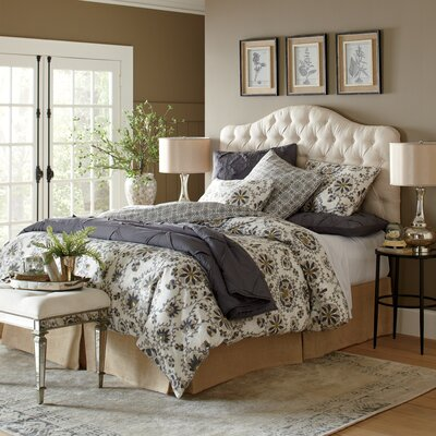 Blanchard Upholstered Headboard Size: King, Upholstery: Putty