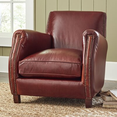 Frost Club Chair Upholstery: Steamboat Chestnut, Nailhead Detail: Yes