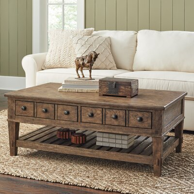 Derrickson Coffee Table with Drawers