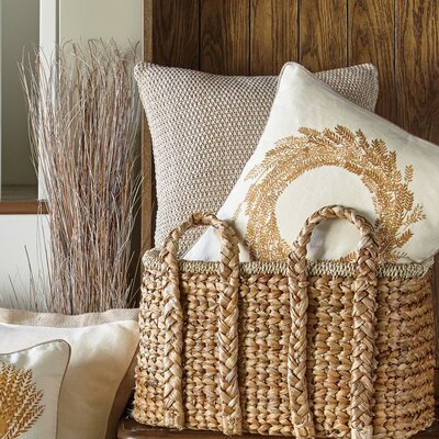 Hammond Knit Pillow Cover Color: Khaki