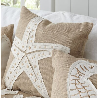 Starfish Jute Pillow Cover