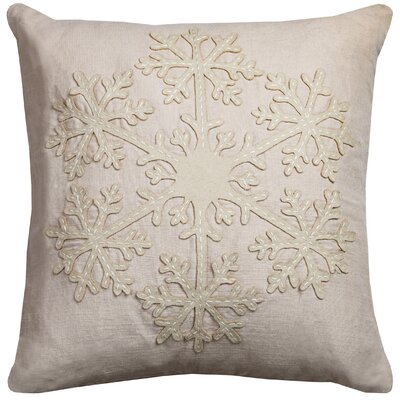 Embroidered Snowflake Pillow Cover