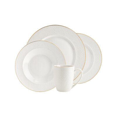 16-Piece Huntley Porcelain Dinnerware Set