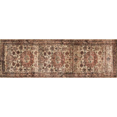 Lucien Champagne/Beige Area Rug Rug Size: Runner 27 x 12