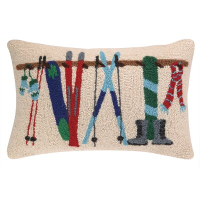 Winter Rack Hook Wool Throw Pillow