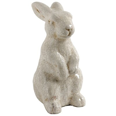 Glazed Standing Rabbit Statue