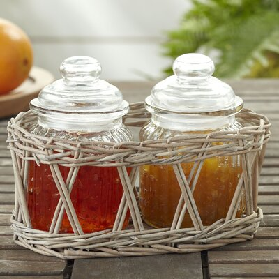 3-Piece Glass Jar Condiment Set